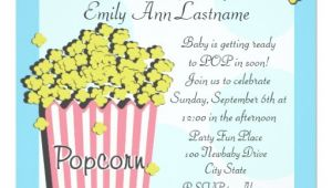 Popcorn Baby Shower Invitations Popcorn Baby Shower 5 25×5 25 Square Paper Invitation Card