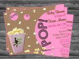 Popcorn Baby Shower Invitations Ready to Pop Popcorn Baby Shower Invitation for Girls