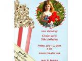 Popcorn Birthday Party Invitations Popcorn Birthday Party Invitation Zazzle