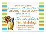"Porch Party Invitation Summer Patio Party Invitation 5"" X 7"" Invitation Card"