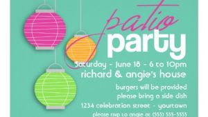"Porch Party Invitation Summer Patio Party Invitations 5"" X 7"" Invitation Card"