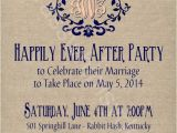 Post Elopement Party Invitation Rustic Burlap Linen Post Wedding or Elopement