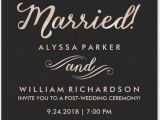 Post Elopement Party Invitation Wedding Reception Invitation after Eloping Weddinginvite Us