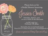Postcard Size Bridal Shower Invitations Mason Jar Wedding Invitations Card Ideas — C Bertha Fashion