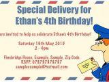 Postman Pat Party Invitations Birthday Party Invitations Invitations and Party