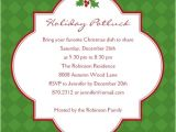 Potluck Christmas Party Invitation Wording Nice Christmas Potluck Party Invitation Wording Looks