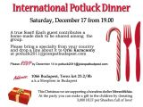 Potluck Christmas Party Invitation Wording Potluck Invitation Wording Samples