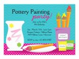 Pottery Painting Party Invitations Personalized Paint Party Invitations Custominvitations4u Com