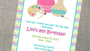 Pottery Painting Party Invitations Pottery Invitation Custom Printable Pottery Party