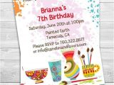 Pottery Painting Party Invitations Pottery Painting Birthday Party Invitation