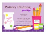Pottery Painting Party Invitations Pottery Painting Party Invitations 5 Quot X 7 Quot Invitation Card