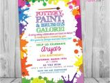 Pottery Painting Party Invitations Pottery Party Invitation Pottery Birthday Party Invitation