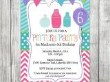 Pottery Painting Party Invitations Pottery Party Invite Girls Invite Preteen Birthday