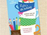 Pottery Painting Party Invitations Sweet Wishes Creative Painting Pottery Party Invitations