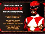 Power Ranger Birthday Invitations First Birthday Party Invitations Boy