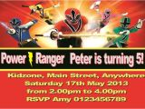 Power Ranger Birthday Invitations Free Power Ranger Birthday Invitations Wblqual Com