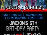 Power Ranger Birthday Invitations Power Rangers Birthday Invitation Template Power Rangers