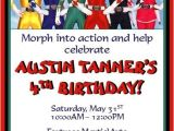 Power Ranger Birthday Invitations Power Rangers Invitations 2 Invitations