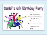 Power Ranger Birthday Invitations Power Rangers Party Invitations