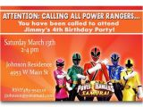 Power Ranger Birthday Invitations Printable Power Rangers Invitations to Print