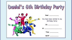 Power Ranger Birthday Invitations Printable Power Rangers Party Invitations