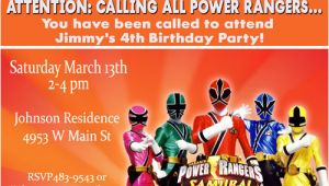 Power Rangers Birthday Invitation Template Power Rangers Birthday Invitations Ideas Free Printable