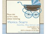 Pram Baby Shower Invitations Pram Baby Shower Invitation