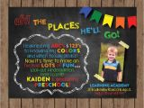 Pre K Graduation Invitations Dr Seuss Preschool Graduation Invitation Kindergarten