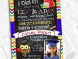 Pre K Graduation Invitations Pre K or Kindergarten Graduation Invitation Storybook