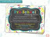 Pre K Graduation Invitations Pre School Graduation Invitation Pre K Class Graduation