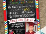Pre Printed Graduation Party Invitations Custom Kindergarten Pre School Graduation Announcement