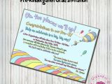 Pre Printed Graduation Party Invitations Dr Seuss Oh the Places You 39 Ll Go Graduation Invitation