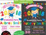 Pre Printed Graduation Party Invitations Graduation Party Invitation Kindergarten Graduation Invite