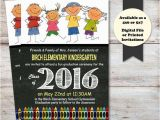 Pre Printed Graduation Party Invitations Kindergarten Graduation Announcement Preschool Graduation