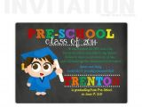 Pre Printed Graduation Party Invitations Preschool Graduation Invitations Pre School by