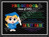 Pre Printed Graduation Party Invitations Preschool Graduation Party Invitation
