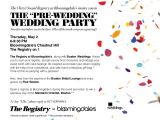 Pre Wedding Celebration Invitations the Pre Wedding Party at Bloomingdales Chestnut Hill and