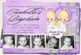 Precious Moments Invitations for Baptism Baptism Invitation Thank You Birth Announcement Angels