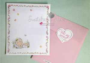 Precious Moments Printable Baptism Invitations Swatches & Hues Handmade with Tlc Precious Moments