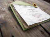 Premade Wedding Invitations Items Similar to Premade Rustic Burlap Sunflower Wedding