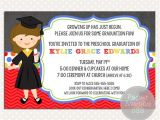 Preschool Graduation Invitation Girls Graduation Invitations Chalkboard Premade Card Invite