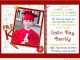 Preschool Graduation Invitation Ideas Photo Kindergarten Graduation Invitation Pre K Elementary