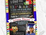 Preschool Graduation Invitation Pre K or Kindergarten Graduation Invitation Storybook