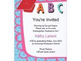 Preschool Graduation Invitation Wording Kindergarten Graduation Invitation Zazzle