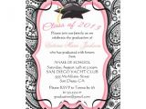 Pretty Graduation Invitations Pretty Paisley Graduation Invitation 13 Cm X 18 Cm