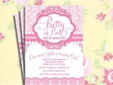 Pretty In Pink Baby Shower Invitations Diy Printable Vintage Pretty In Pink Birthday Party