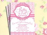 Pretty In Pink Birthday Party Invitations Diy Printable Vintage Pretty In Pink Birthday Party