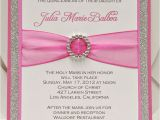 Pretty Quinceanera Invitations Bright Pink Quinceanera Sweet Sixteen Invitation Full Of