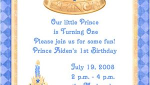 Prince 1st Birthday Invitations Blue Prince 1st Birthday Party Invitations