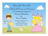 Prince and Princess Birthday Party Invitations Prince and Princess Birthday Party Invitation Zazzle